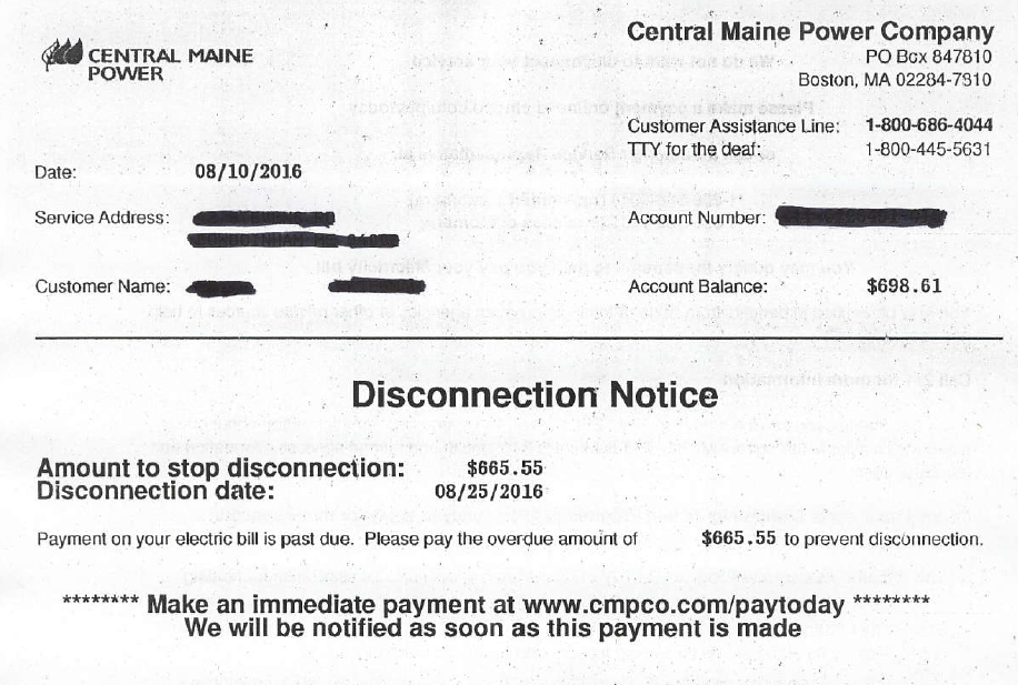 Maine Cmp Customers Who Refuse To Pay Opt Out Fees Get