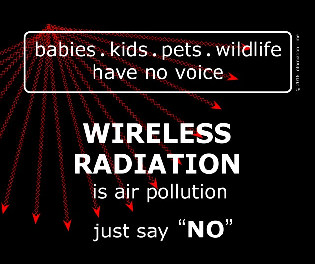 Be the voice for babies, kids, pets, wildlife — wireless radiation is air pollution, Smombie Gate | 5G | EMF